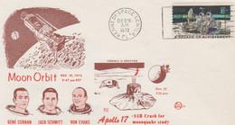 N°1253 N -lettre (cover) -Apollo 17 -Moon Orbit- - USA