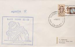 N°1252 N -lettre (cover) -Apollo 17 èBaker Nunn SC 23- Woomera- - USA