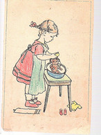 1921 Hand Drawn And Colored Girl > Tirol Insbrück Hotel D L'Europe (damaged)(FA-45) - Covers & Documents