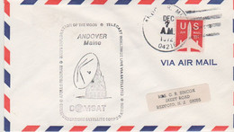 N°1251 N -lettre (cover) -Andover Maine -Comsat- - USA