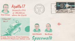 N°1250 N -lettre (cover) -Apollo 17 -Jack Schmitt Et Ron Evans- - USA