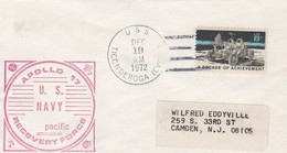 N°1249 N -lettre (cover) -Apollo 17 -US Navy Recovery Force -pacific- - USA