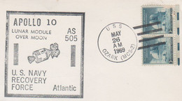 N°1248 N -lettre (cover) -Apollo 10 -lunar Module Over Moon- AS 505- - USA