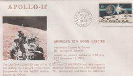 N°1247 N -lettre (cover) -Apollo 17 -Moon Landing- - USA