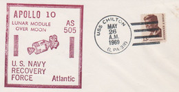 N°1245 N -lettre (cover) -Apollo 10- US Navy Recovery Force- - USA