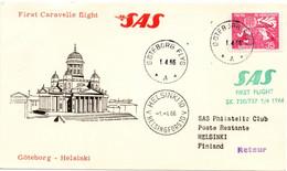 Göteborg Helsinki 1966 - First SAS Caravelle Flight - Erstflug 1er Vol - Briefe U. Dokumente