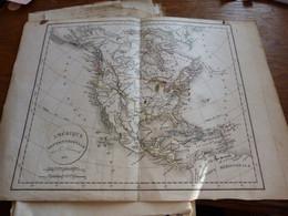 Ancienne Carte Géographique Amérique Septentrionale 1831 Territoires Indiens Sioux Panis Mandanes Etc Etc - Carte Geographique