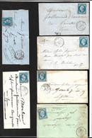 """France Lot De 50 Lettres Et Plis Classiques"""" Bleus""""  Oblitérés B/TB   à Saisir     Mise à Prix  1 Euro      Soldes ! ! ! - 1849-1876: Classic Period"""