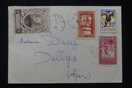 ALGÉRIE - Enveloppe De Alger Pour  Alger En 1938, Affranchissement Avec Vignette Dont Joffre - L 89590 - Briefe U. Dokumente