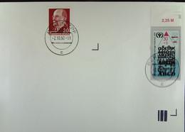 DDR-WU: Bf Mit 30+5 Pfg ABC-Zuschlagmarke In MiF Mit 20 Pfg Ulbricht Aus BERLIN ZPF V. 2.10.90 Knr: 3353,ua. O.Anschrift - Cartas