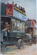 """C. P. A. : Publicité : DUBONNET : """"Autobus Londoniens Sur Le Front"""" - Reclame"""