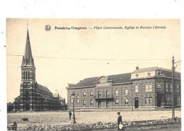 Houdeng-Goegnies NA38: Place Communale. Eglise Et Maison Libérale - La Louviere
