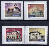 Switzerland  2018. Railway Stations - Mint Self-adhesive Stamp Set. MNH - Unused Stamps