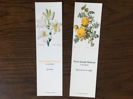 Marque Page Fleurs X2 Lys Rosier Jaune - Marque-Pages