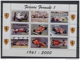 Angola - Serie Completa Nuova In Foglietto: Automobili Ferrari Da Formula 1 - Automobile