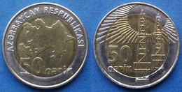"AZERBAIJAN - 50 Qapik ND (2006) ""2 Oil Wells"" KM# 44 - Edelweiss Coins - Azerbaïjan"
