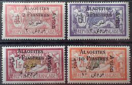 R2452/131 - 1925 - COLONIES FR. - ALAOUITES - POSTE AERIENNE - TYPE MERSON - SERIE COMPLETE - N°1 à 4 NEUFS* - Neufs
