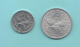Nuova Caledonia 1 + 5 Franchi 2000 E 1952  New Caledonia 1 + 2 Francs Aluminum Coin - New Caledonia