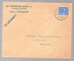 DRUKWERKENVELOP 1949 Twentse Bank Hoogezand > Uiterdijk Hoogezand (FB-5) - Covers & Documents