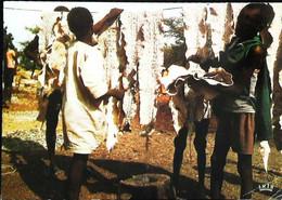 ► Afrique   Séchage Des Peaux De Serpents - Andere