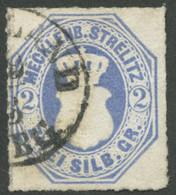 MECKLENBURG-STRELITZ 5 O, 1864, 2 Sgr. Grauultramarin, K1 FRIEDLAND, Kleine Falzhelle Stelle Sonst Pracht, Gepr. Berger, - Mecklenbourg-Strelitz