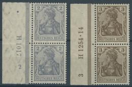 Dt. Reich 83/4I HAN Paar **, 1905, 2 Und 3 Pf. Germania, Friedensdruck, Je Im Senkrechten HAN-Paar, Postfrisch Pracht, G - Unused Stamps