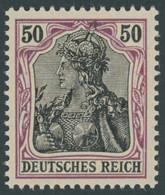 Dt. Reich 91Ix **, 1905, 50 Pf. Graulila/schwarz Friedensdruck, Postfrisch, Pracht, Gepr. Jäschke, Mi. 240.- - Unused Stamps