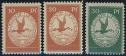 Dt. Reich I-III **, 1912, Flugpost Am Rhein Und Main, Prachtsatz, Mi. 230.- - Unused Stamps