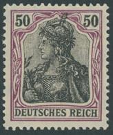 Dt. Reich 91IIy **, 1915, 50 Pf. Graulila/schwarz Auf Orangeweiß Kriegsdruck, Postfrisch, Pracht, Gepr. Zenker, Mi. 65.- - Unused Stamps