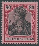 Dt. Reich 93IIa **, 1918, 80 Pf. Karminrot/rotschwarz Auf Hellrosa Kriegsdruck, Postfrisch, Pracht, Gepr. Dr. Hochstädte - Unused Stamps