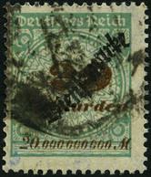 DIENSTMARKEN D 87 O, 1923, 20 Mrd. M. Opalgrün, Fetter Stempel, Feinst, Gepr. Peschl, Mi. 200.- - Officials