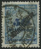 DIENSTMARKEN D 88 O, 1923, 50 Mrd. M. Kobaltblau, Feinst (kleine Zahnmängel), Gepr. Winkler, Mi. 260.- - Officials
