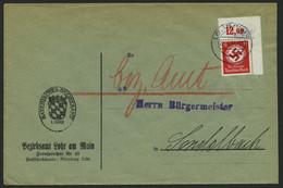 DIENSTMARKEN D 138aP BRIEF, 1934, 12 Pf. Schwarzrosa, Mit Wz., Plattendruck, Aus Der Rechten Oberen Bogenecke, Nicht Dur - Officials
