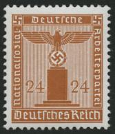 DIENSTMARKEN D 163y **, 1942, 24 Pf. Braunorange, Waagerechte Gummiriffelung, Pracht, Gepr. Schlegel, Mi. 350.- - Officials