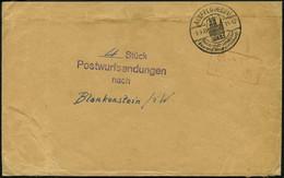 DIENSTMARKEN 1935, Umschlag Aus ALSFELD Mit Stempel 4 Stück Postwurfsendungen Nach Blankenstein, Roter Gebühr-bezahlt-St - Officials