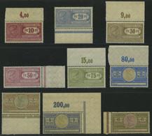 DIENSTMARKEN **, 1906, 10 Pf. - 6 Mk. Frachtstempelmarken, Wz. Kreuzblüten, 9 Werte Postfrisch, Pracht - Officials