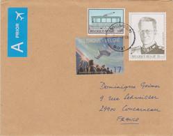 BELGIQUE 12009 Enveloppe Pour La France Affranchissements Jeunesse Et Espace, K. Van De Poele Et G. Broux - Covers & Documents