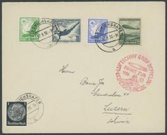 ZEPPELINPOST 365B BRIEF, 1936, Fahrt Zur Leipziger Messe, Auflieferung Friedrichshafen, Frankiert U.a. Mit Mi.Nr. 625, P - Airmail