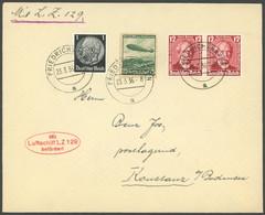 ZEPPELINPOST 401Ab BRIEF, 1936, 1. Postfahrt Hindenburg, Auflieferung Friedrichshafen, Prachtbrief Nach Konstanz/Bodense - Airmail