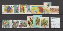 Papegaaien - Perroquets - Parrots - Oceanië 14 Zegels Gest./obl./used - Parrots