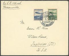 ZEPPELINPOST 407A BRIEF, 1936, 1. Nordamerikafahrt, Schwarzer Bordpoststempel, Prachtbrief In Die USA - Airmail