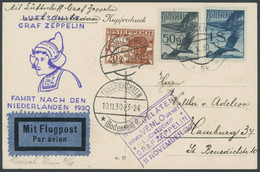 ZULEITUNGSPOST 98 BRIEF, Österreich: 1930, Hollandfahrt, Prachtkarte - Aéreo