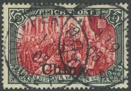 DP CHINA 27III O, 1901, 5 M. Reichspost, Type I, Nachmalung Mit Rot Und Deckweiß, Stempel PEKING, Pracht, Gepr. Pfenning - Offices: China