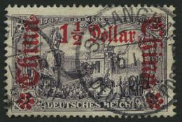 DP CHINA 36B O, 1905, 11/2 D. Auf 3 M., Ohne Wz., Gezähnt B, Pracht, Mi. 60.- - Offices: China