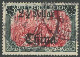 DP CHINA 47IAIb O, 1906, 21/2 D. Auf 5 M., Mit Wz., Friedensdruck, Gezähnt A, Karmin Quarzend, üblich Gezähnt, Pracht, G - Offices: China
