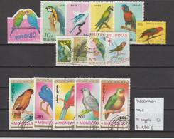 Papegaaien - Perroquets - Parrots - Azië 15 Zegels Gest./obl./used - Parrots