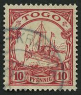 TOGO 9 O, KETE-KRATSCHI, Teilabschlag Auf 10 Pf. Karmin, Ohne Wz., Pracht - Colonia: Togo