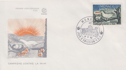 Enveloppe  FDC  1er  Jour   MONACO   Campagne  Contre  La  Faim    1963 - FDC