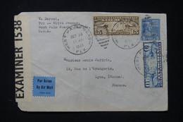 ETATS UNIS - Enveloppe De West Palm Beach Pour La France En 1941 Avec Contrôle Postal - L 89610 - Cartas