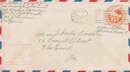 COVER. US ARMY POSTAL SERVICE. ARMY EXAMINER. 16 DEC 1942 . APO 953 HICKAM FIELD FORCE BASE - Cartas